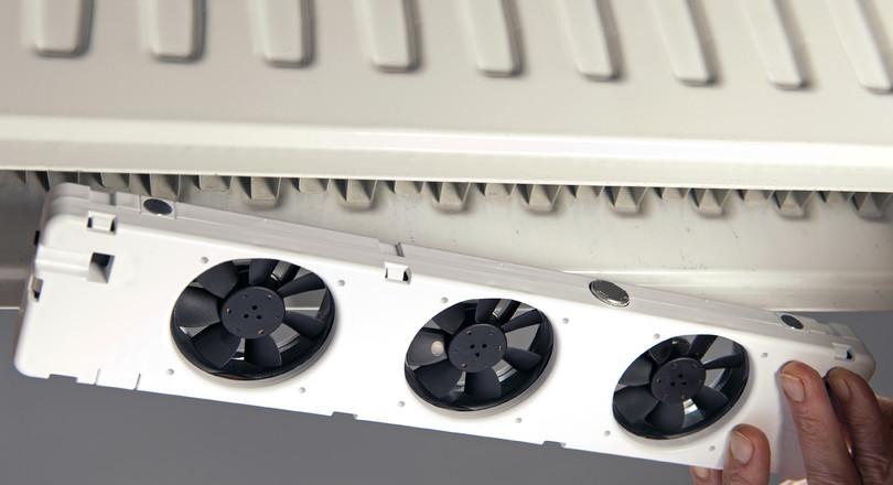 ventilatoren in radiator besparen energie