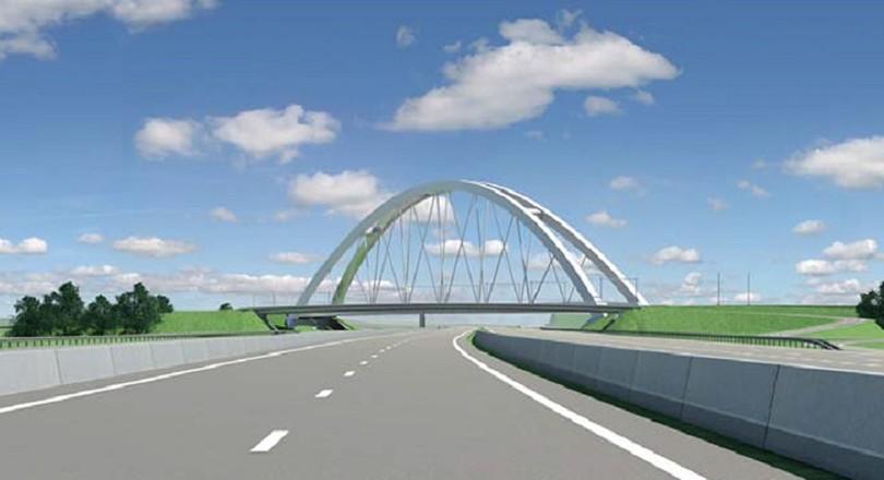 Nieuwe spoorbrug over snelweg A1 | De Ingenieur