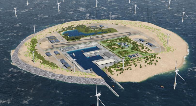 Gigantisch stopcontact op eiland doggersbank de ingenieur - Centraal eiland met eethoek ...