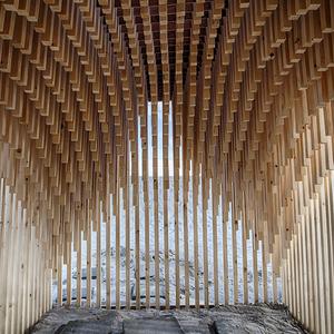 De binnenkant van Uit hout gesneden van StudioPlots