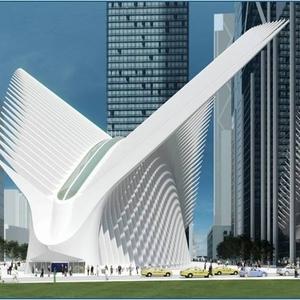 Render van het gebouw. Credit: Port Authority of New York and New Jersey