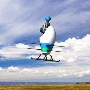 De helikoptergroep van Texas A&M University doet mee met de Aria, een origineel ontwerp met dubbele rotor.Topsnelheid: 145 km/h.