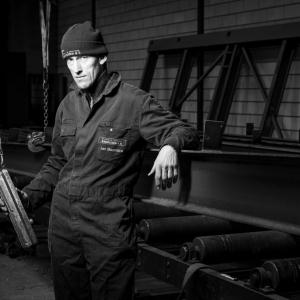 Jan Boonstra van staal- en coatingbedrijf Bakhuizen in Friesland.