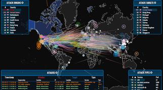 Een kaart van hacks over de wereld