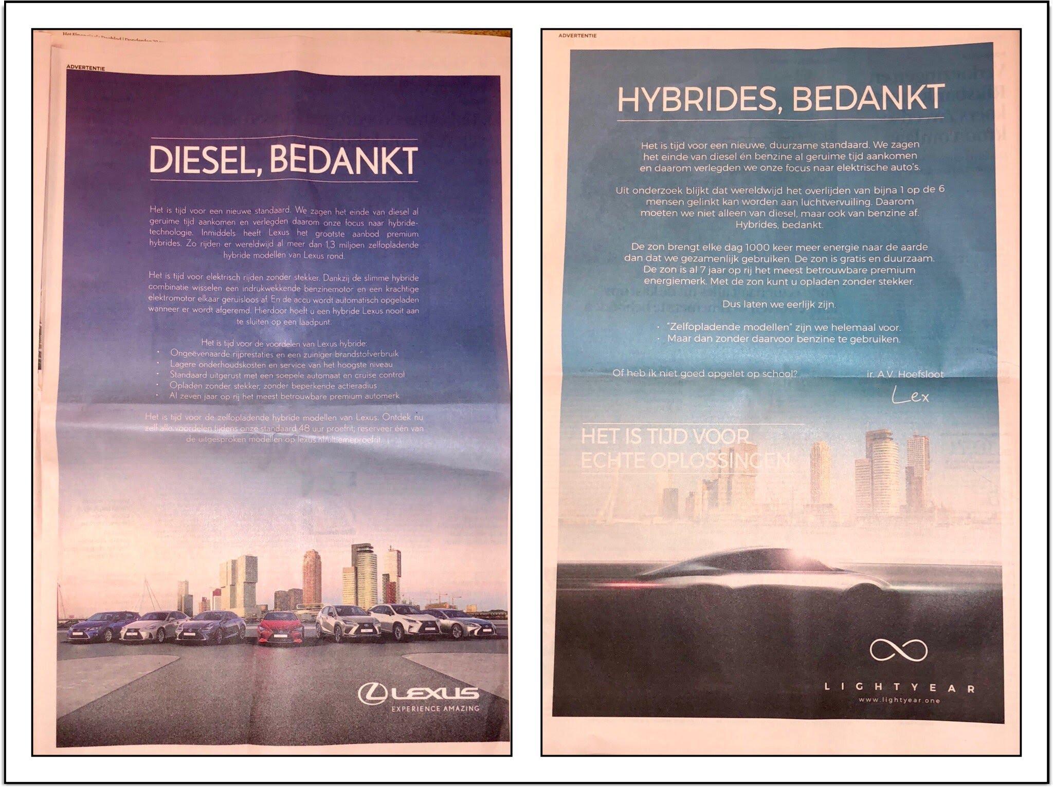 Lightyear Plaagt Lexus Met Advertentie De Ingenieur